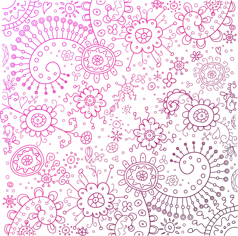 Colorful Doodles Background. Vector Illustration.