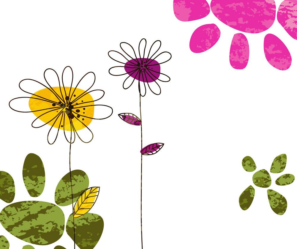 Colorful Doodles Background Vector Illustration