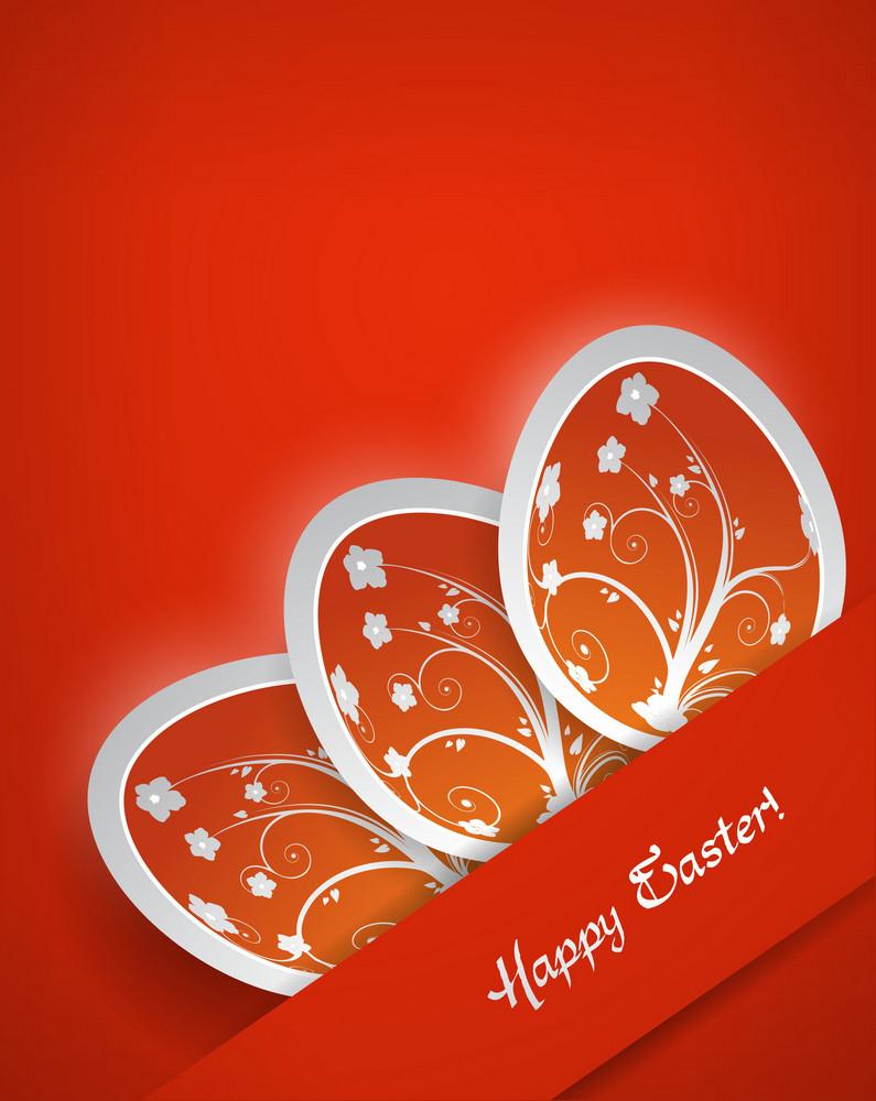 Colorful  Easter Background Vector Illustration