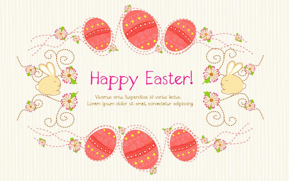 Colorful Eggs Vector Illustration