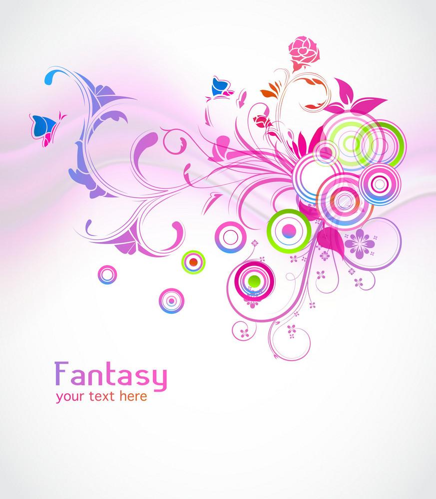 Colorful Floral Background Vector Illustration