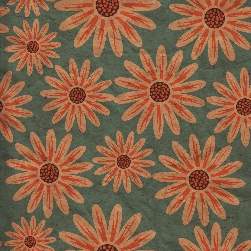 Colorful Floral Pattern In Cartoon Style. Texture With Flowers. Endless Floral Pattern. Grunge Floral Ornament. Leaf. Ornament. Backdrop.