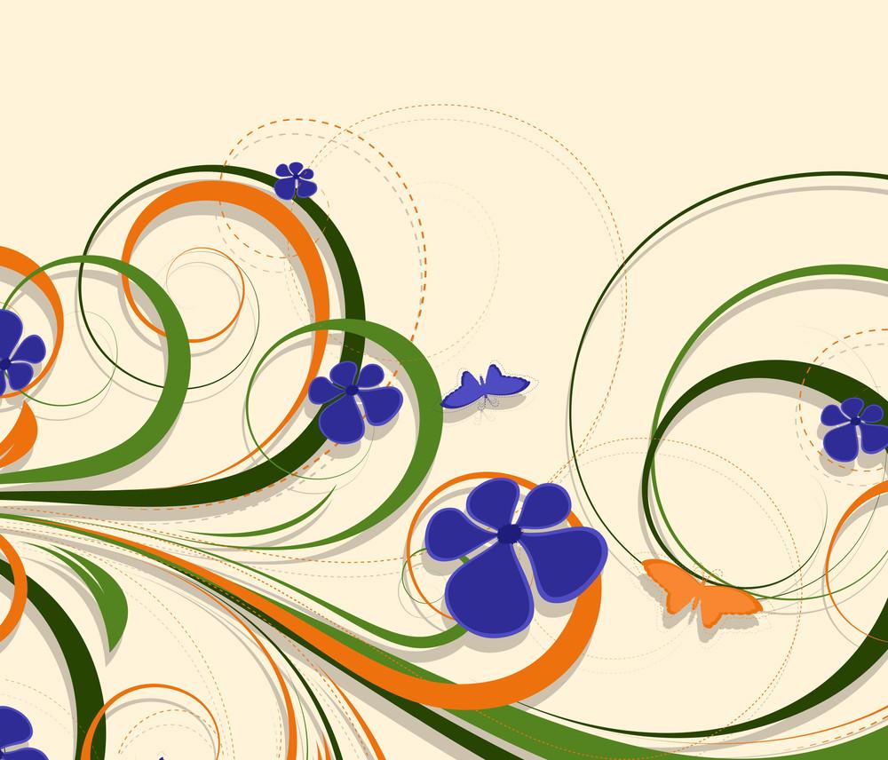 Colorful Flourish Background