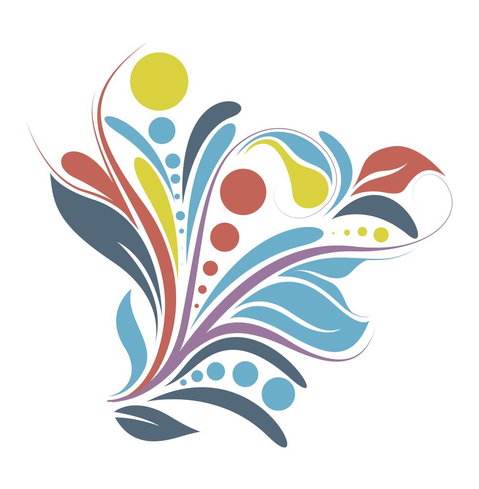 Colorful Flourish Design
