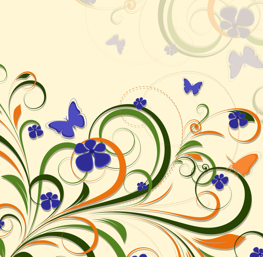 Colorful Flourish Designs