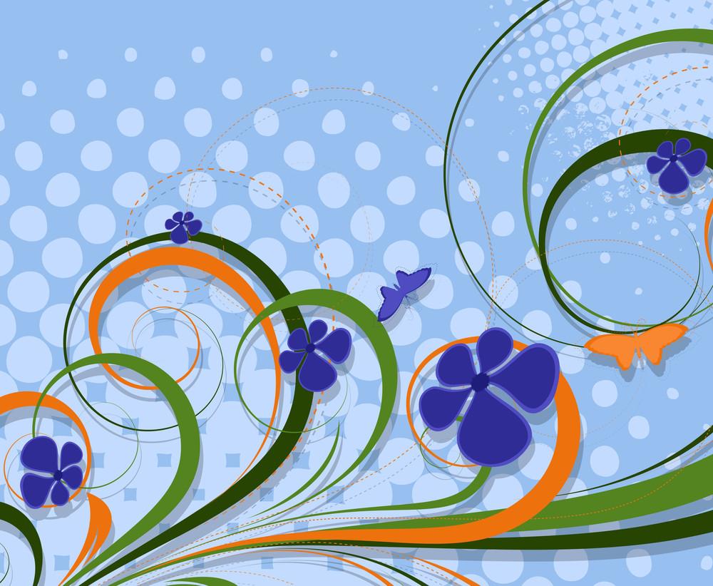 Colorful Flourish Halftone Background