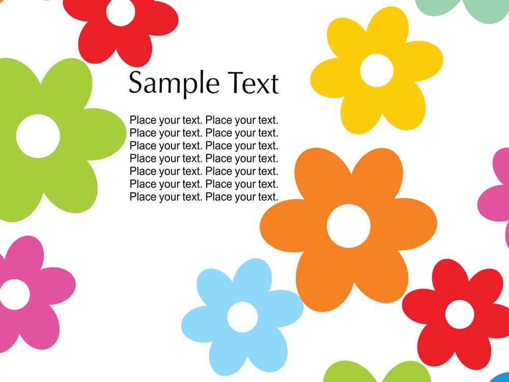 Colorful Flower Illustration