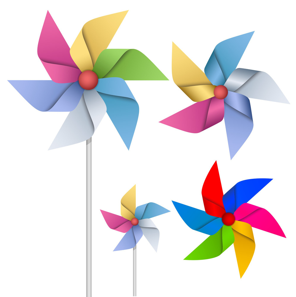 Colorful Flowers Vectors