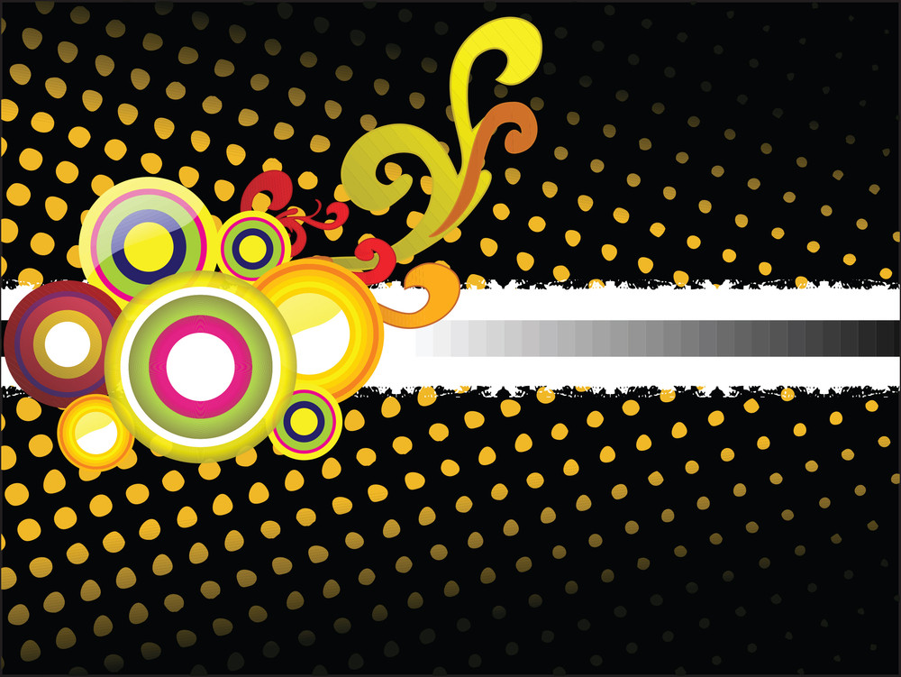 Colorful Funky Pattern Background