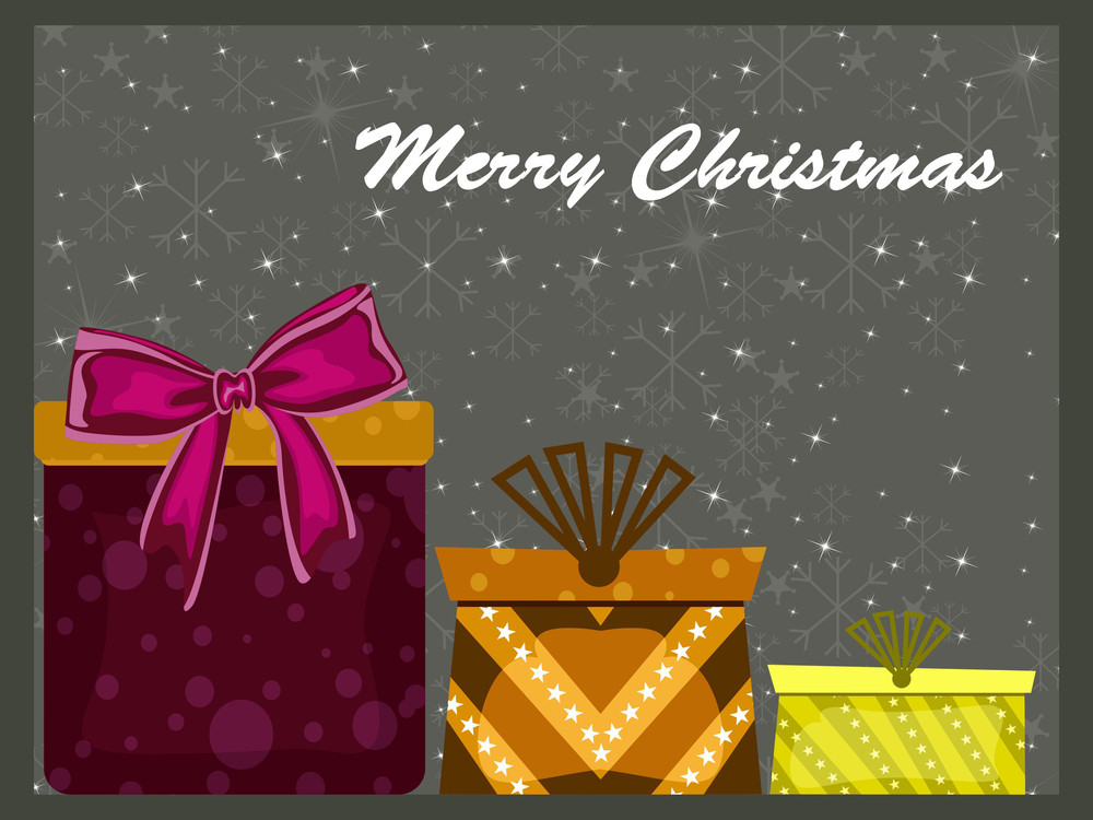 Colorful Gift Box For Christmas Day