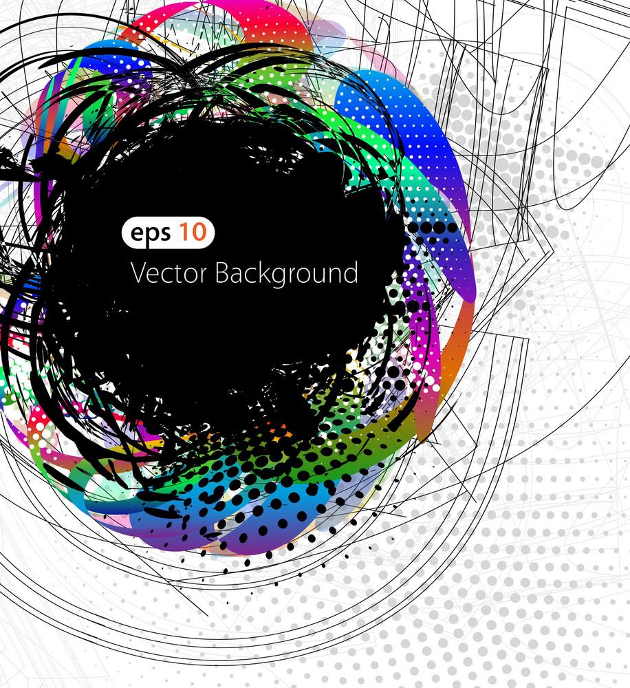 Colorful Grunge Background Vector Illustration