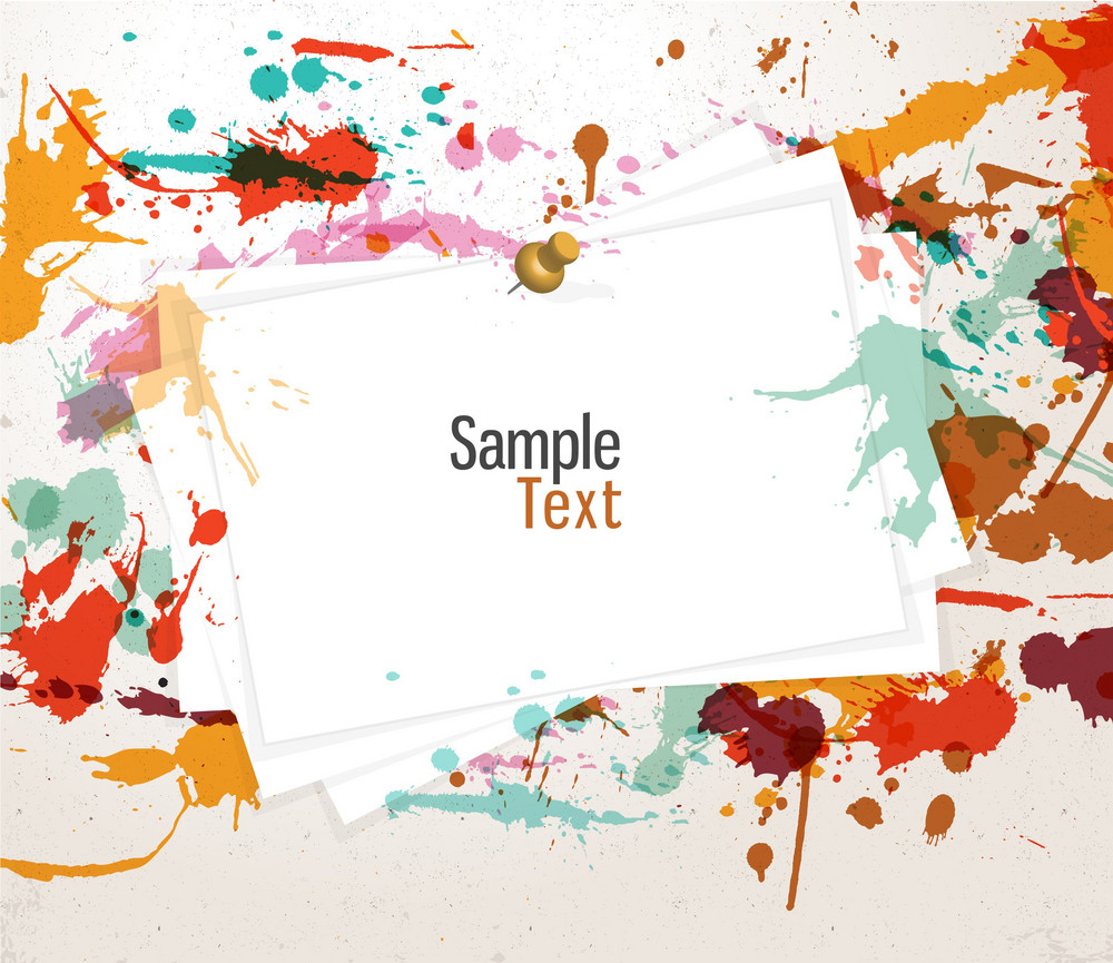 Colorful Grunge Background Vector Illustration