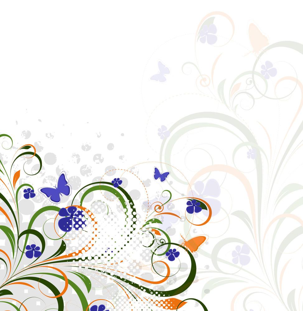 Colorful Grunge Flourish Background