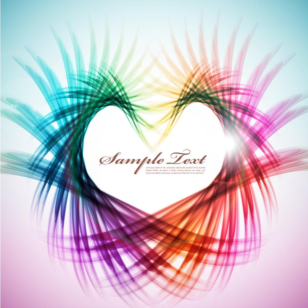 Colorful Heart Shape Pattern Design
