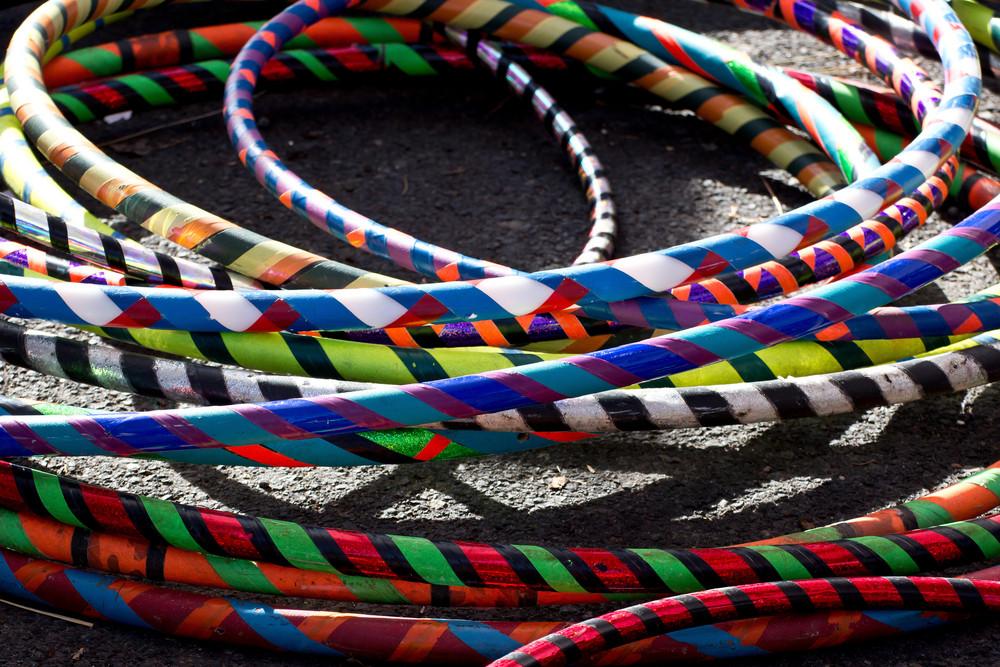 Colorful Hula Hoops