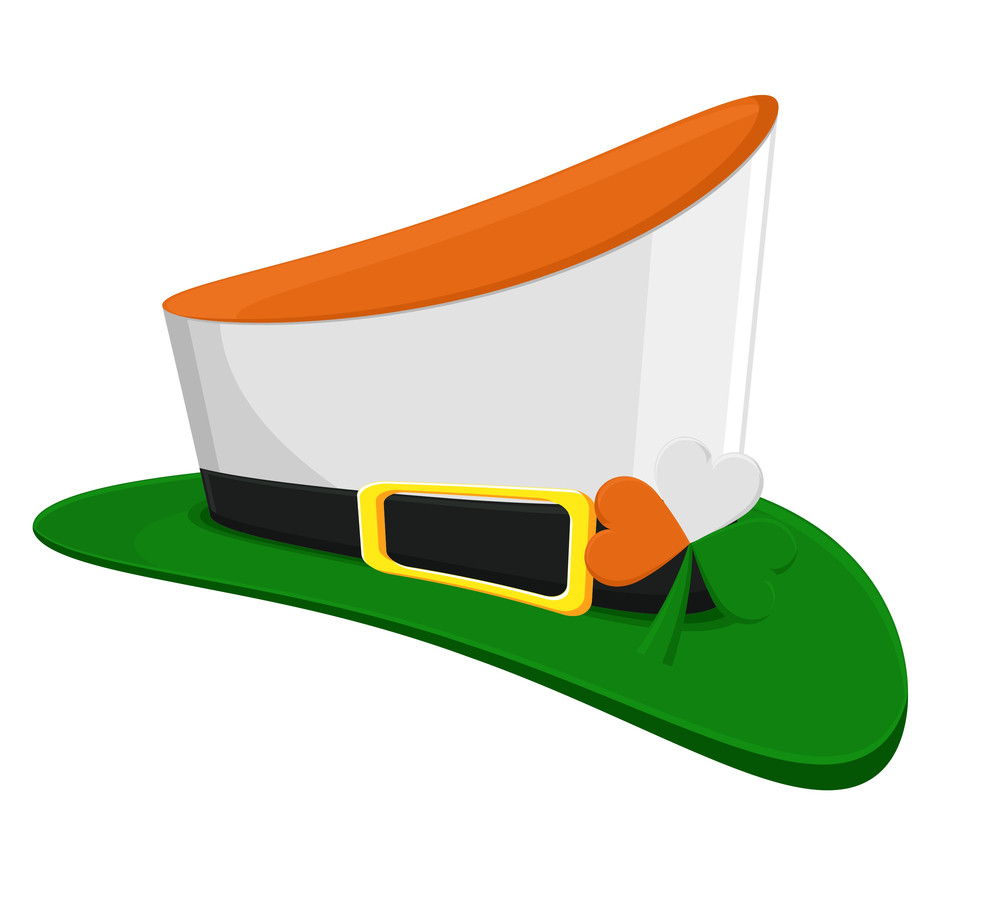 Colorful Leprechaun Hat With Shamrock