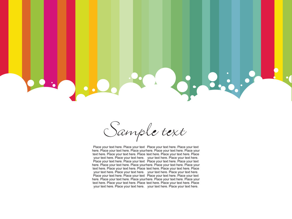Colorful Line Sample Text