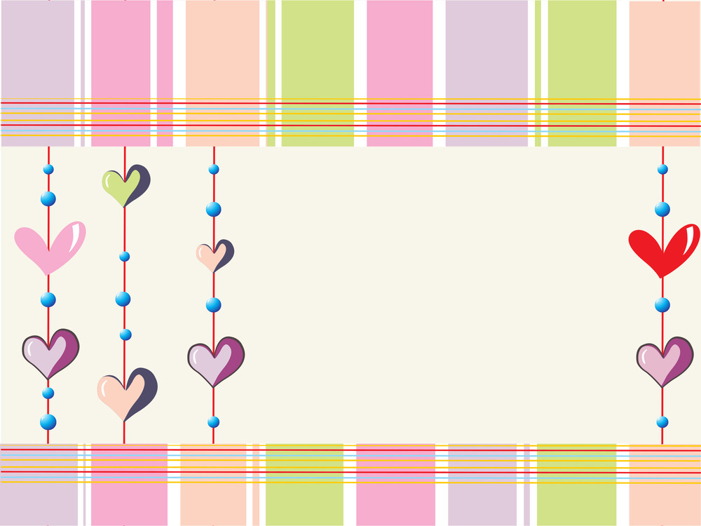 Colorful Lines Background With Heart