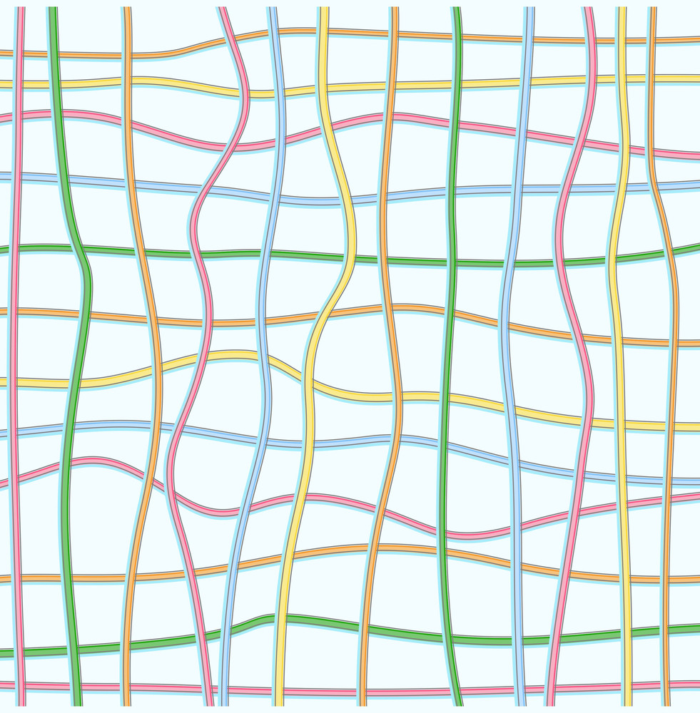 Colorful Lines Net Background