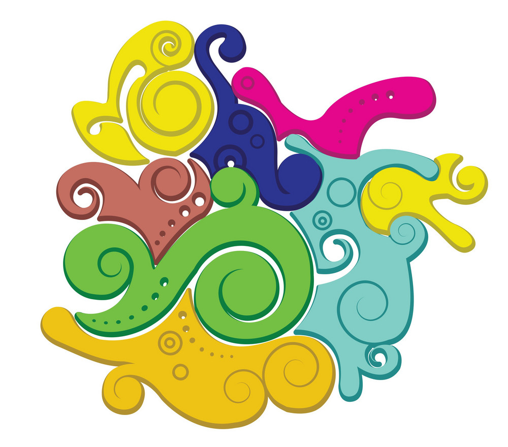 Colorful Liquid Background Vector Illustration