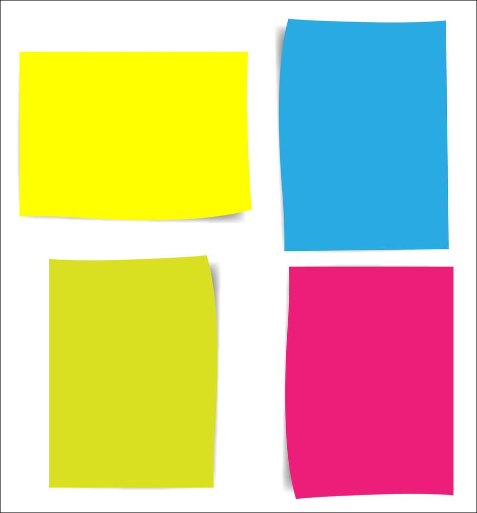 Colorful Notes Paper Vectors