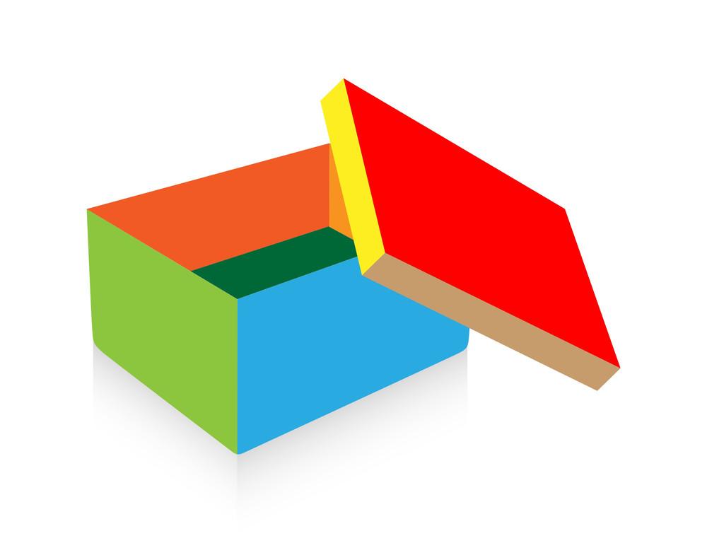 Colorful Open Box Vector