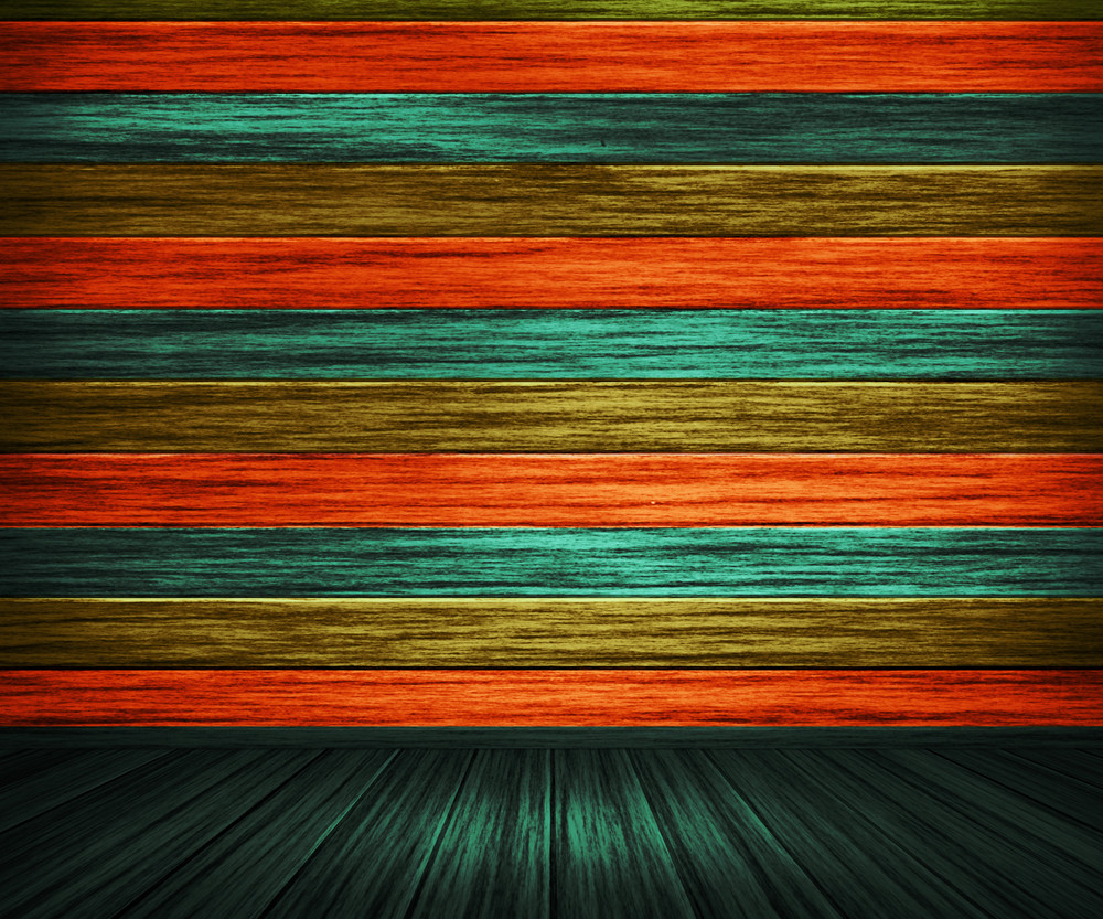 Colorful Orange Painted Wooden Interior