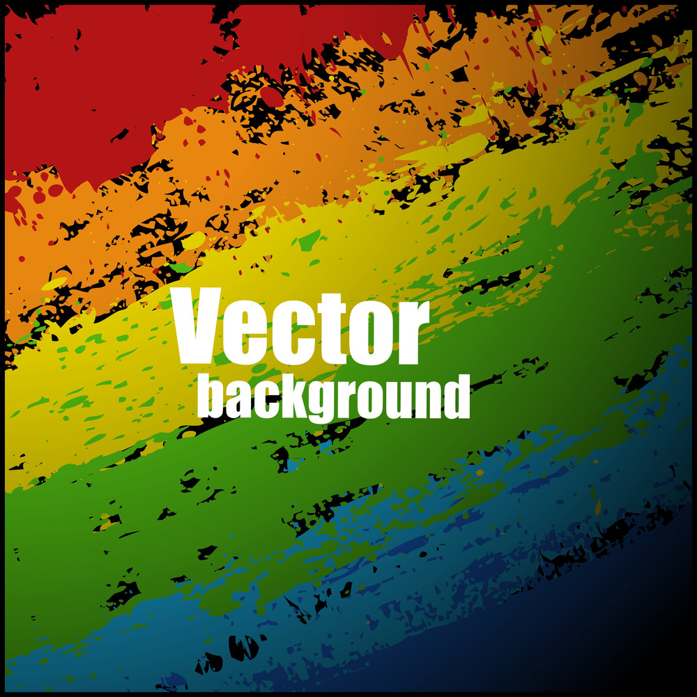 Colorful Paint Strokes Pattern Vector