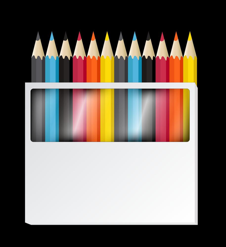 Colorful Pencils Vectors
