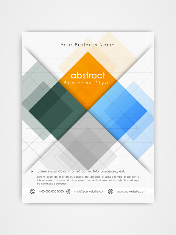 colorful professional flyer template or brochure design for