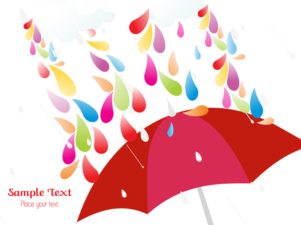 Colorful Rainy Day Concept