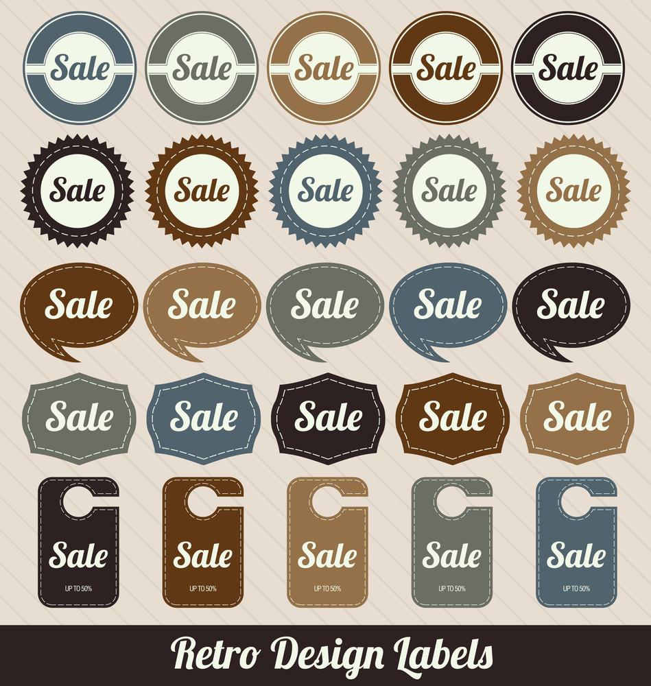 Colorful Retro Sale Badges