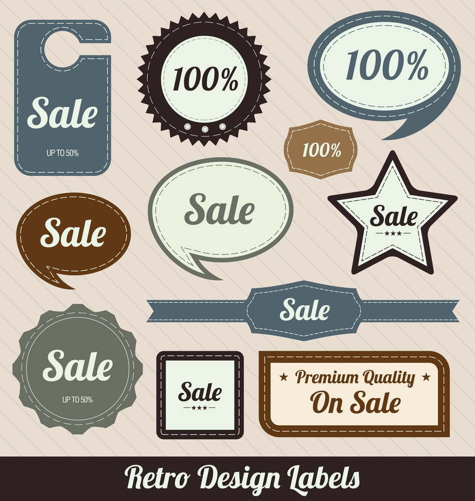 Colorful Retro Sale Badges