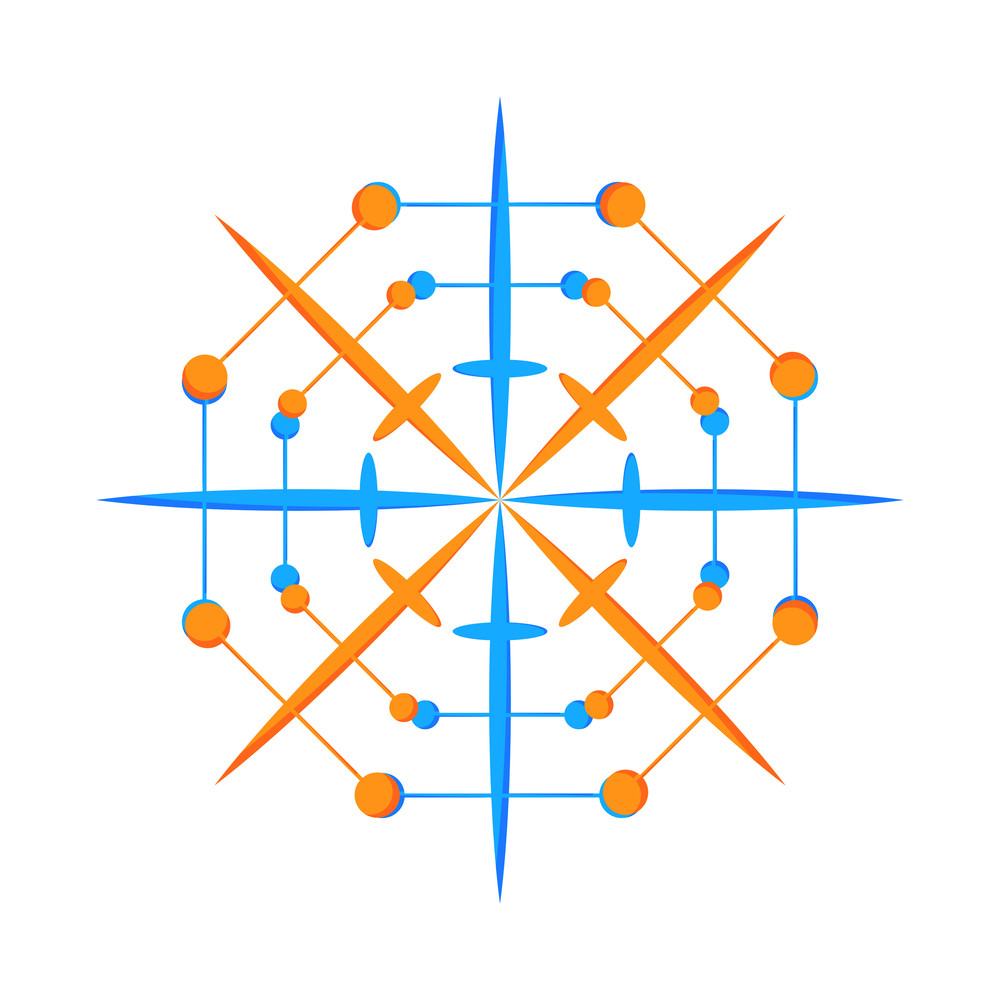 Colorful Snowflake Design