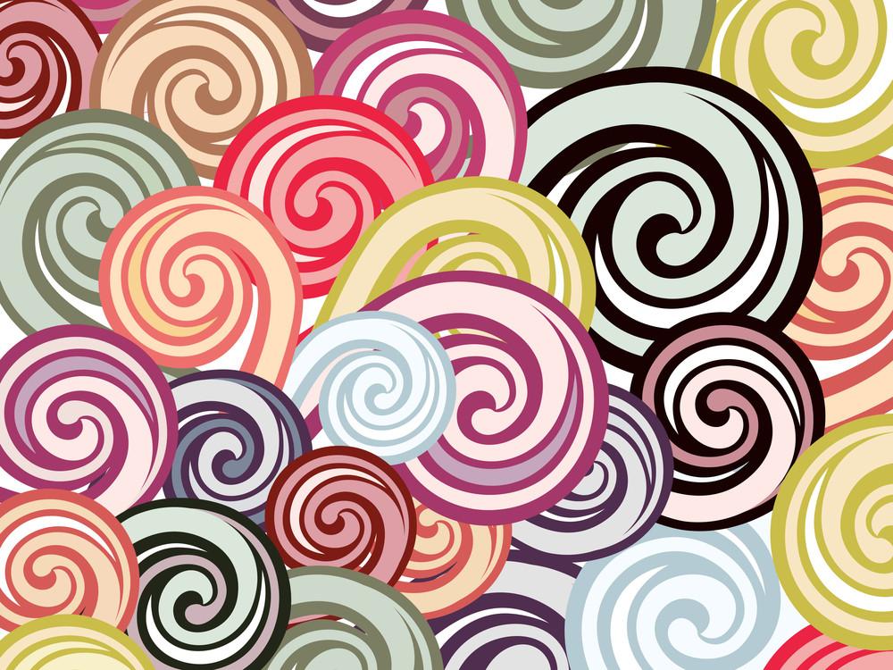 Colorful Spiral Wallapaper