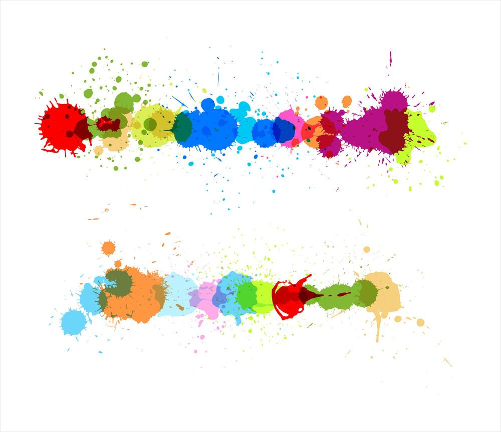 Colorful Splahes Vectors