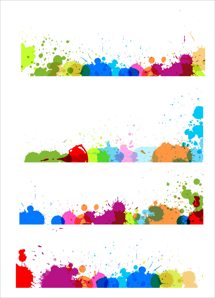 Colorful Splashes Separators Designs