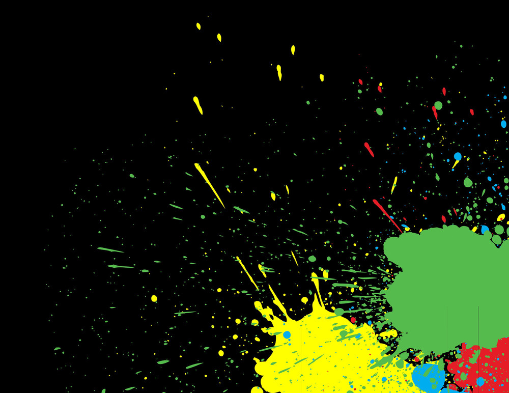 Colorful Splatter Background