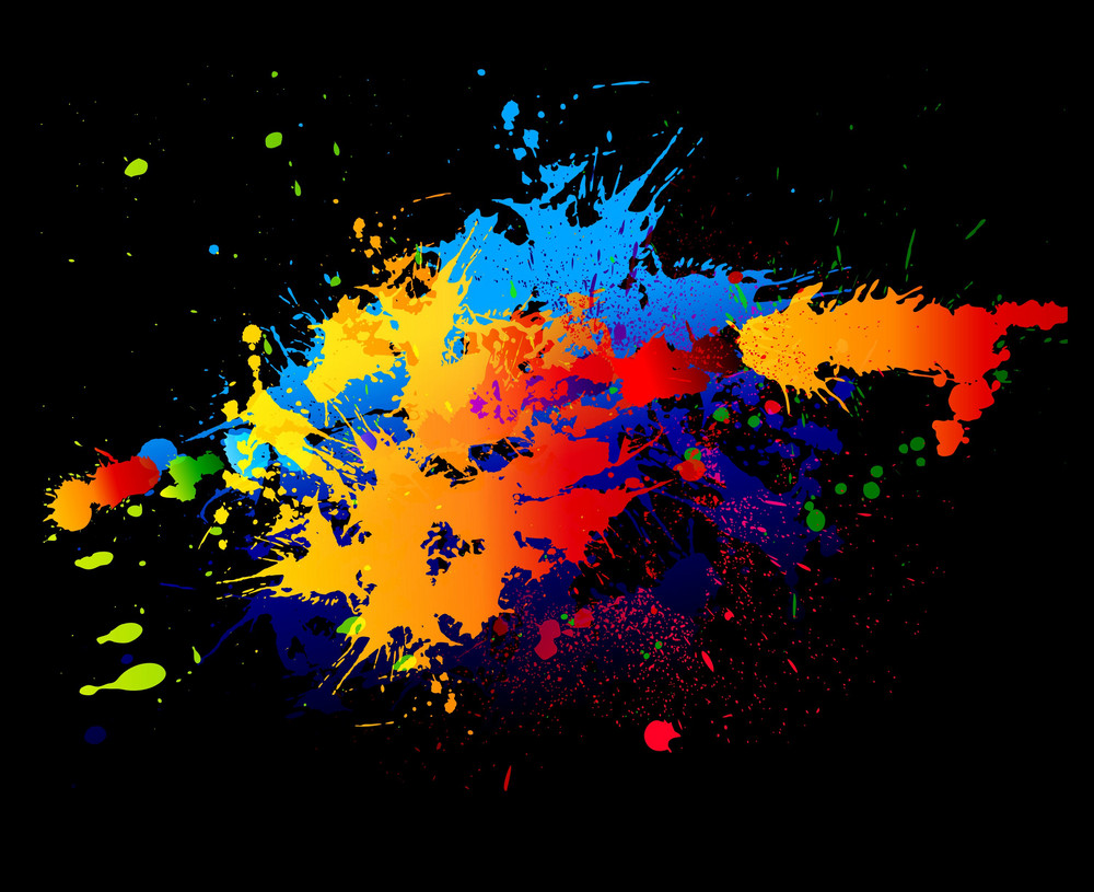 Colorful Splatter Vector Illustration