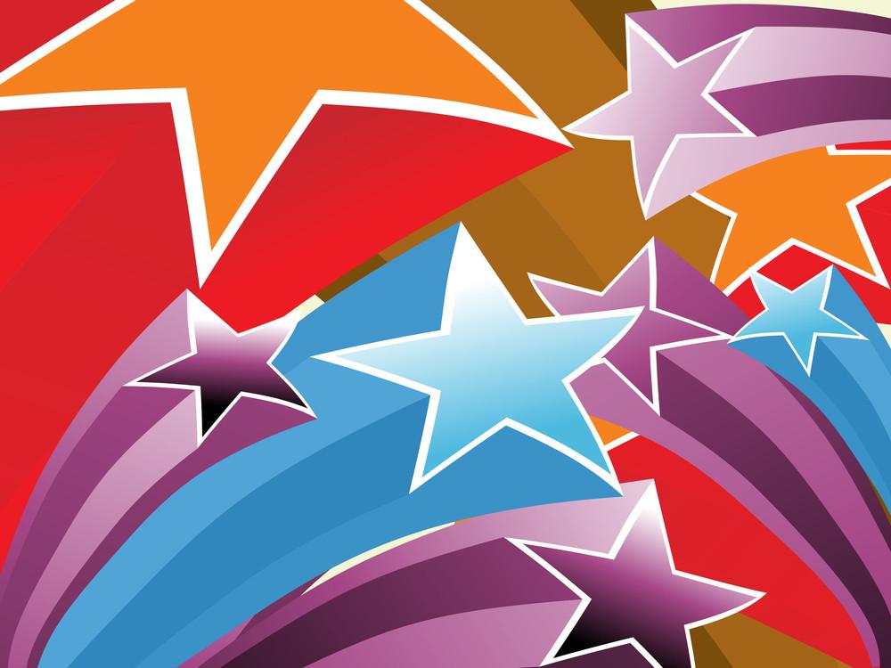 Colorful Star Pattern Wallpaper