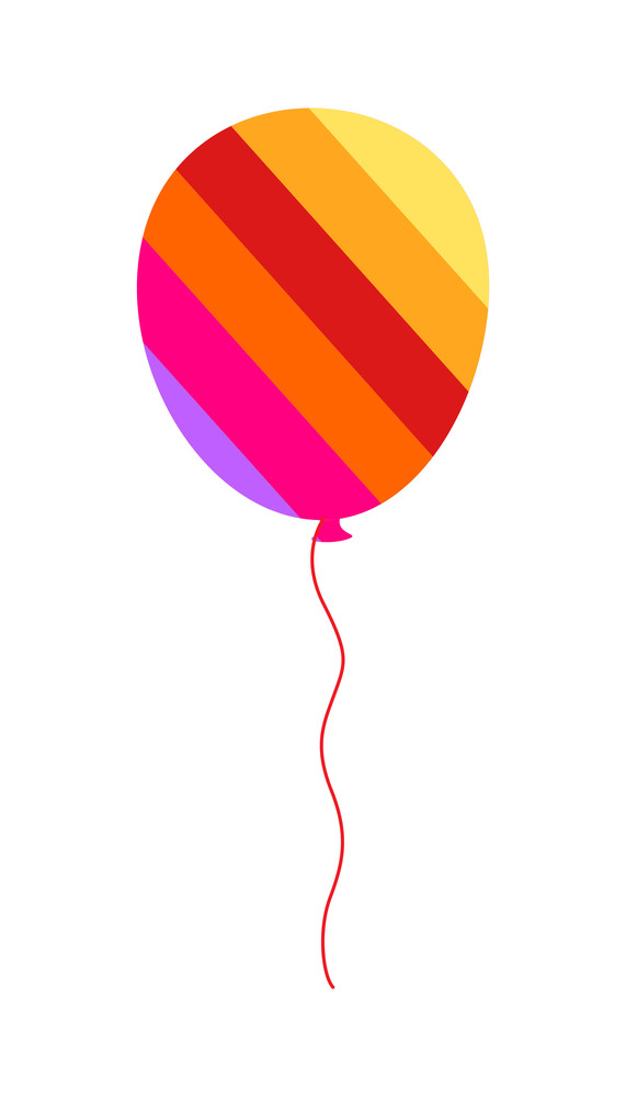 Colorful Striped Balloon