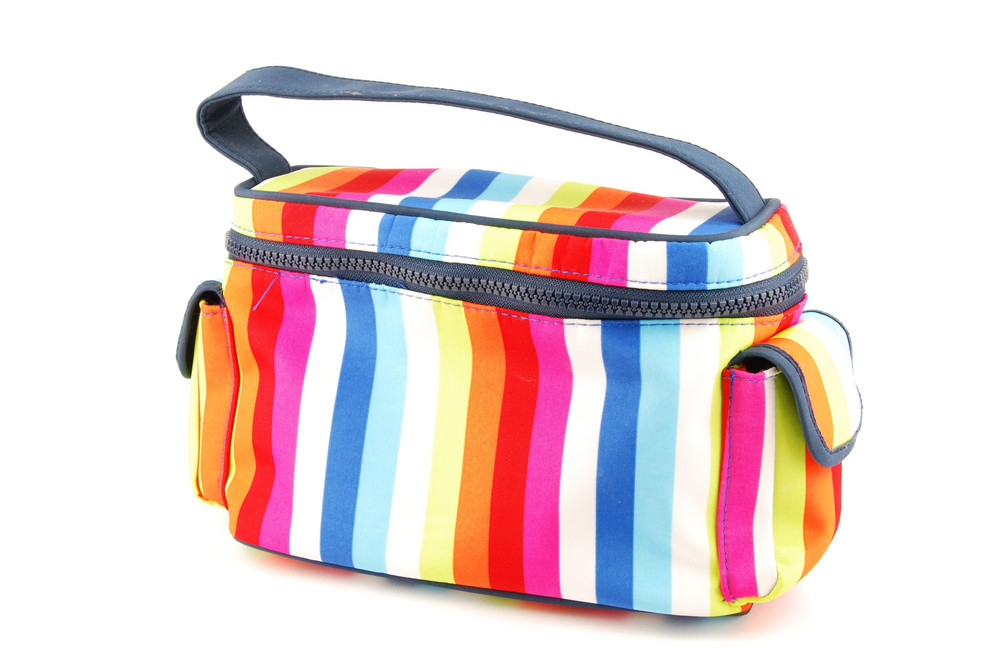 Colorful Toiletry Bag On White