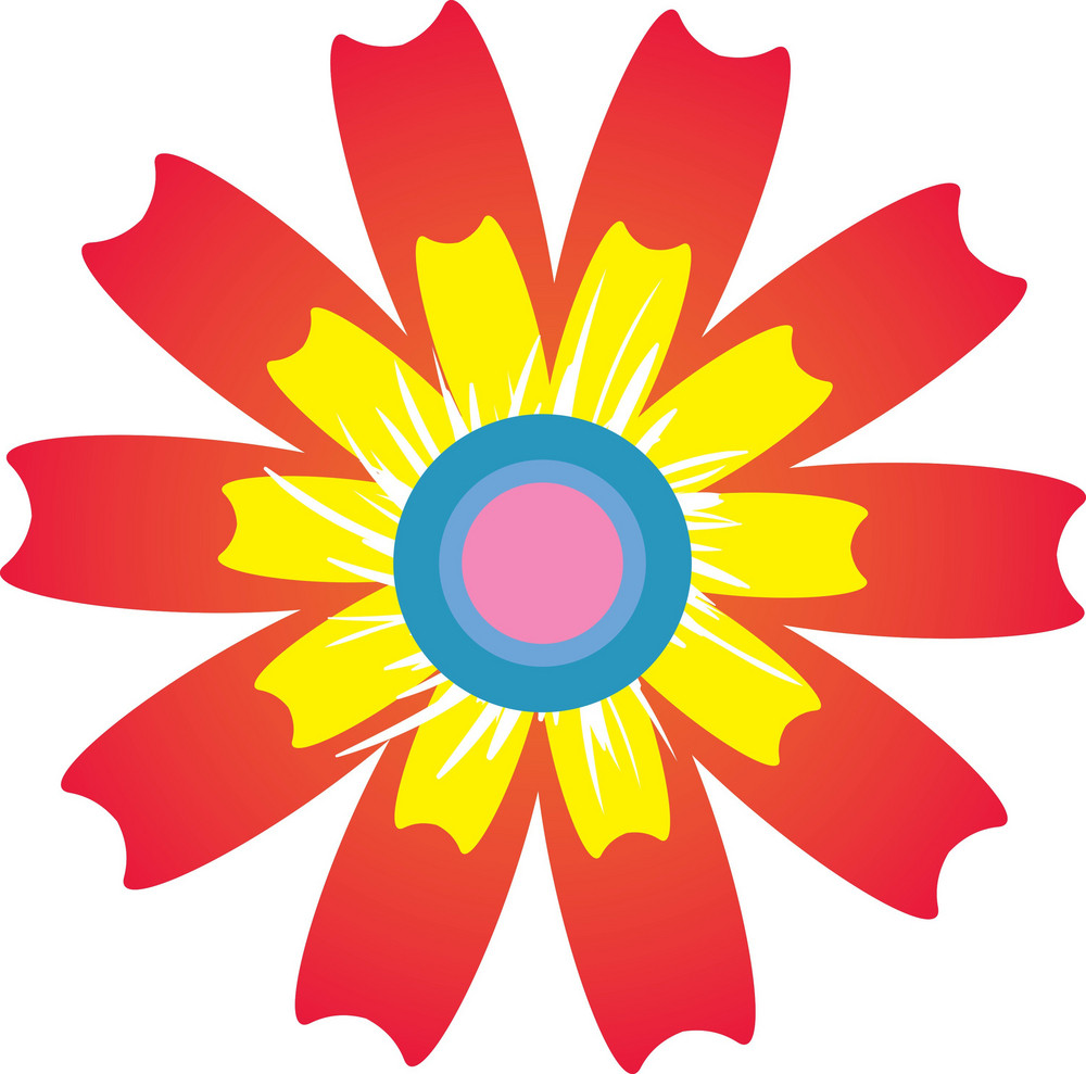 Colorful Vector Flower