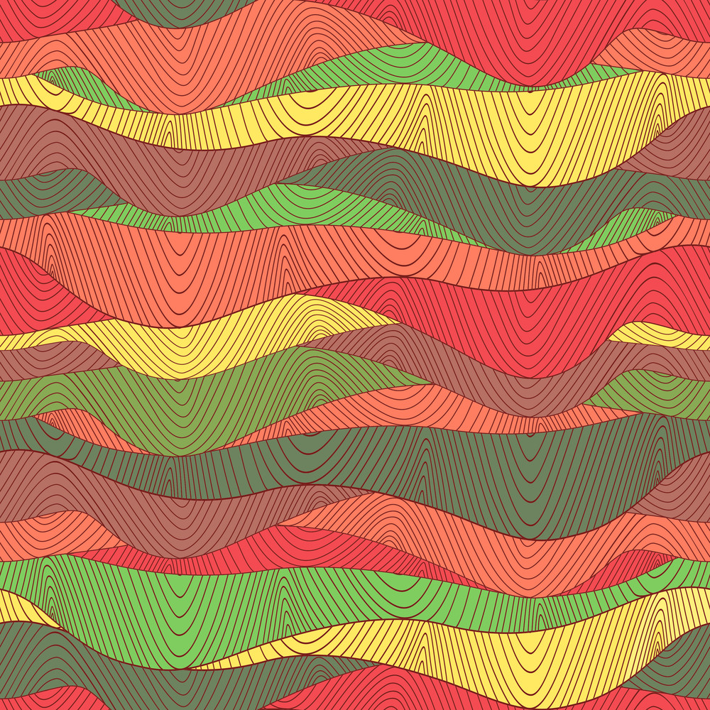 Colorful Waves Background