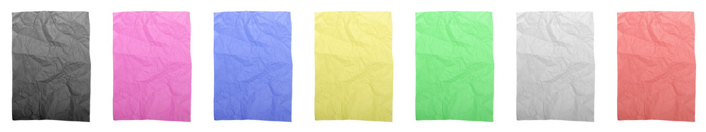 Colorful Wrinkled Papers