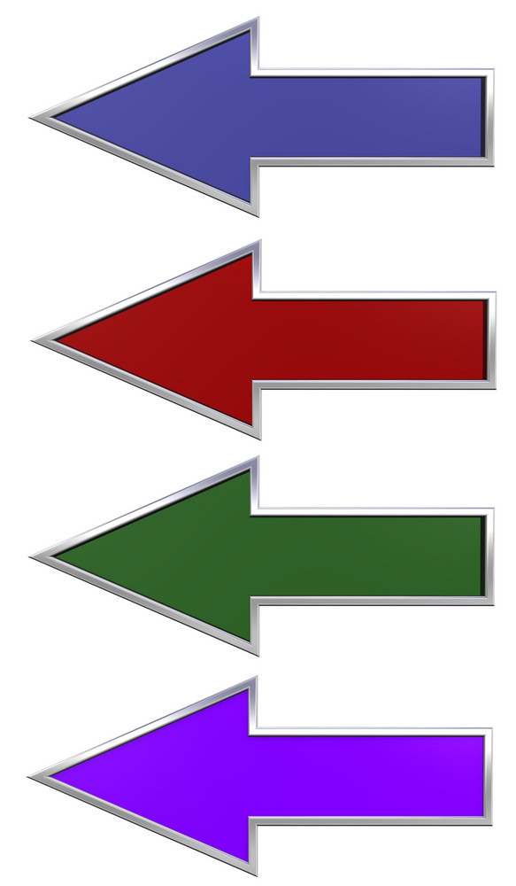 Colors Arrows With Chrome Frame.
