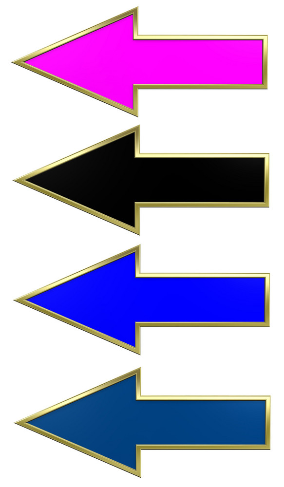Colors Arrows With Gold Frame.