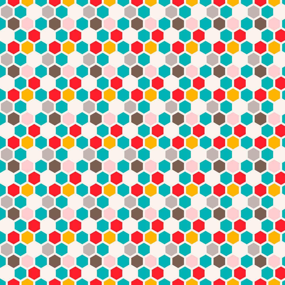 Colourful Chain Link Pattern