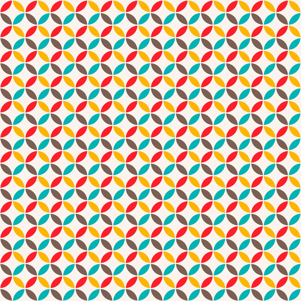 Colourful Circle And Diamond Pattern