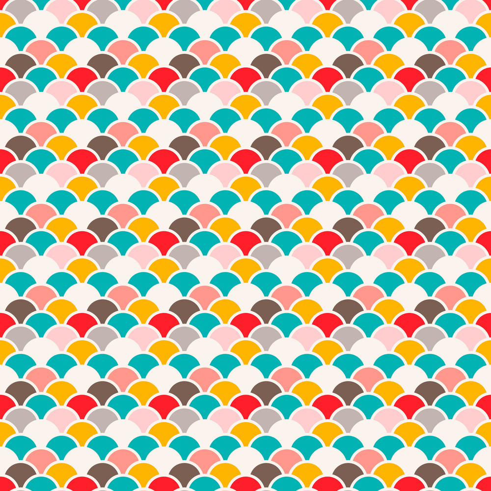 Colourful Fans Pattern